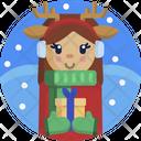 Christmas Gift Reindeer Icon