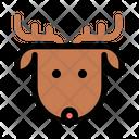 Christmas X Mas Reindeer Icon