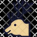 Reindeer Animal Reindeer Head Icon