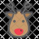 Christmas Color Deer Icon