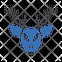 Reindeer Head Zoo Icon