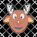 Reindeer Animal Christmas Icon