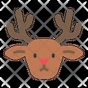 Reindeer Rudolph Deer Icon
