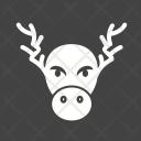 Reindeer Celebration Decoration Icon