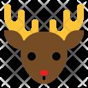Reindeer Christmas Animal Icon