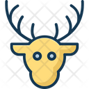 Reindeer Face Icon