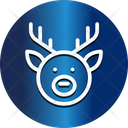 Reindeer Face Christmas Face Animal Icon