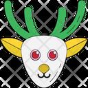 Reindeer Head Animal Head Deer Head Icon