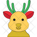 Reindeer Head Icon
