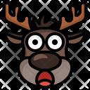 Reindeer Surprised Surprised Reindeer Icon