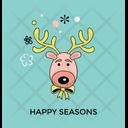 Reindeer Vector Icon
