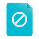 Reject Paperless Invalidation Icon