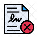 Cancel Agreement Contract Icon