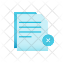 Reject Document Icon