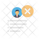 Reject Employee Cv Icon