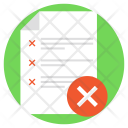 Reject List Icon