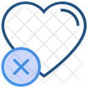 Heart Valentines Day Cross Icon