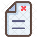 Rejected Document Reject Paper Incorrect File Icon