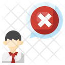 Rejected Employee Rejected Worker Dismissal Icon