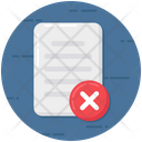 Rejected File Rejected Document Incorrect File Icon