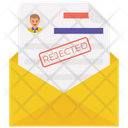 Rejected Mail Cv Rejected Email Declined Icon