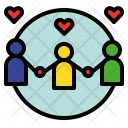 Relation Relational Collaborate Icon