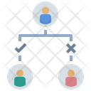 Relation Downline Network Icon