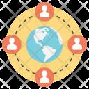 Worldwide Relationship Web Icon