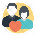 Emotional Attachment Lovebirds Icon
