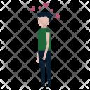 Enamored Heart Man Icon