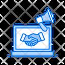 Relationship Marketing Publicity Advertisement Icon