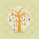 Relatives Genealogical Tree Icon