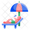 Relax Umbrella Beach Icon