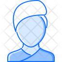 Spa Woman Towel Icon