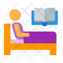 Relax in bed Icon