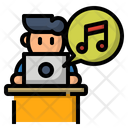 Relaxing Time Listen Music Relaxing Work From Home Icon Icon