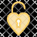 Unlock Release Heart Icon