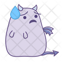 Relieved Sad Unhappy Icon