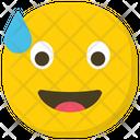 Relieved Emoji Emoticon Smiley Icon