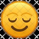 Relieved Face Emoji Emoticon Icon