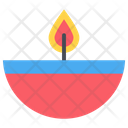Candle Diwali Lamp Icon