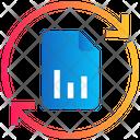 File Chart Sync Icon