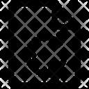 Arrows Document File Icon