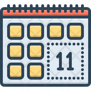 Remind Leisure Time Calendar Icon