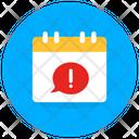 Alert Calendar Reminder Error Calendar Error Icon