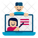 Remote Classroom Remote Learning Online Education Icon