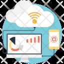 Remote cloud network Icon