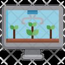 Remote Monitoring Agriculture Farming Icon