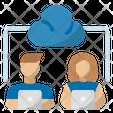 Remote Work Cloud Online Working Icon