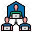 Remote Working Worker Meeting Icon